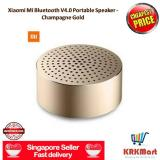 Best Price ♠ Local Seller ♠ 100 Original Xiaomi Mi Bluetooth V4 Wireless Speaker Portable Mini Box Audio With Hands Free Calls Champagne Gold
