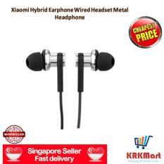 Discount ♠ Local Seller ♠ 100 Original Xiaomi Mi In Ear Headphonexiaomi Hybrid Earphone Wired Headset Metal Headphone Singapore