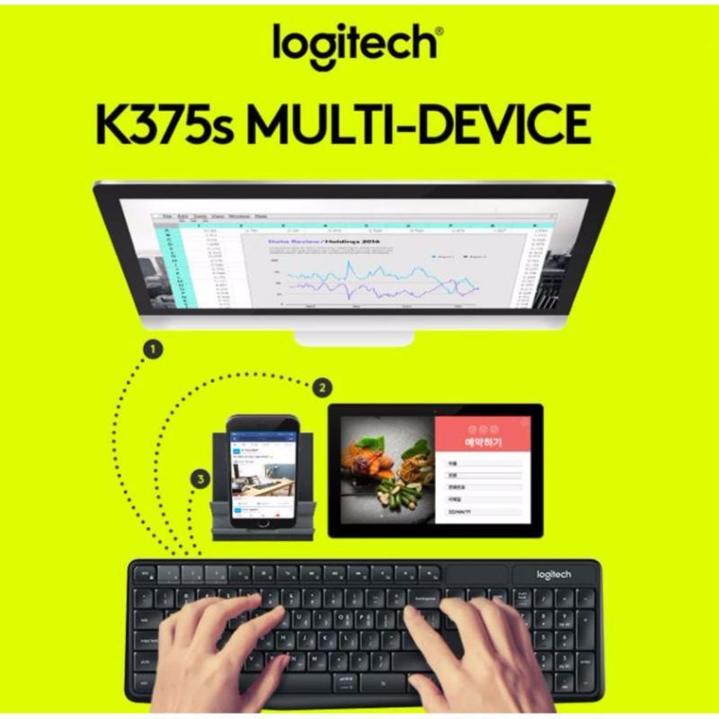 Logitech K375s Multi-Device Wireless Keyboard and Stand Combo K375 Singapore