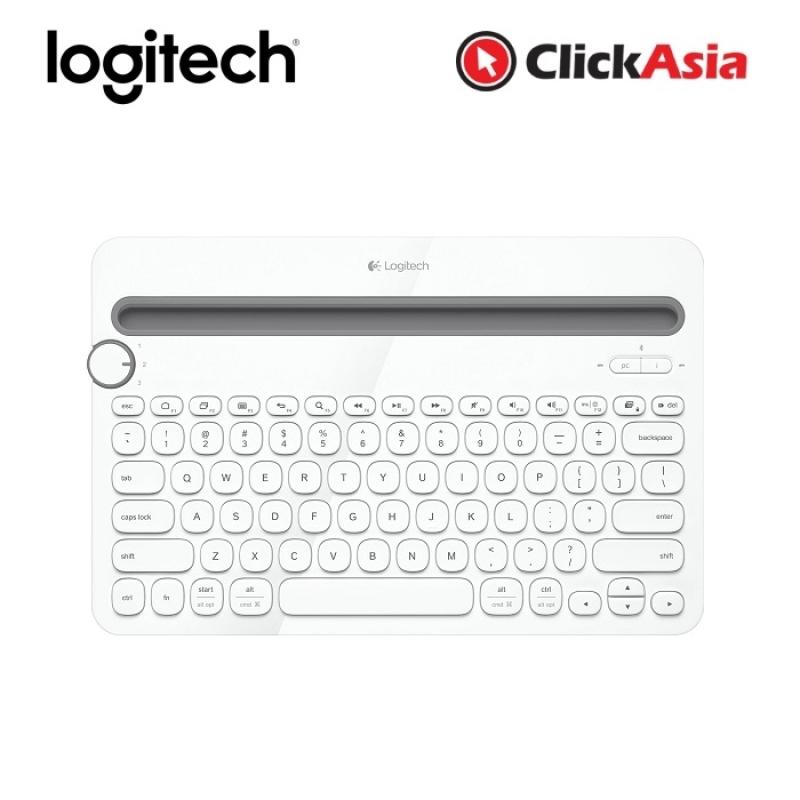 Logitech K480 Bluetooth Wireless Multi Device keyboard - White (920-006381) Singapore