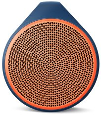 Logitech X100 Mobile Wireless Speaker Blue Housing With Orange Grill Deal