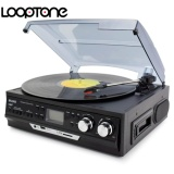 Best Buy Looptone 3 Speed Vinyl Lp Record Players Turntable Player W 2 3W Built In Speakers Gramophone Support Am Fm Radio Cassette Usb Sd Recorder Aux In Rca Line Out Ac220 240V Intl