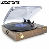 New Looptone 33 45 78Rpm Classic Belt Driven Turntable Vinyl Lp Record Player W 2 3W Built In Speakers Rca Line Out 220 240V Intl