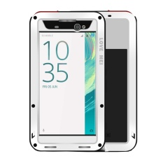 Great Deal Love Mei For Sony Xperia Xa Ultra Professional And Powerful Dustproof Shockproof Anti Slip Metal Silicone Combination Case White Intl