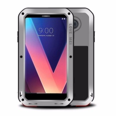 Buy Cheap Love Mei Water Resistant Shockproof Aluminum Metal Outter Super Anti Shake Silicone Inner Fully Body Protection With Tempered Glass Screen Protector For Lg V30 Intl