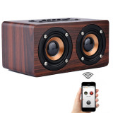 Price Loveu Mini Wooden Hifi Bluetooth Speaker 10W Dual Loudspeakers Surround Portable Speaker Red Wine Intl Oem Original