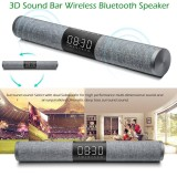 Lp C18 Bluetooth4 2 Soundbar Speakers Home Theater Super Bass Subwoofer Hands Free Support Aux In Tf Card Fm Radio U Disk Read Music Play Led Display Screen Time Alarm Clock For Tv Pc Tablets Smart Phones Intl Sale