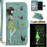 Luminous Shine G*rl Pu Leather Wallet Flip Magnetic Case For Samsung Galaxy S7 Edge Cover Funds Phone Bags Green Intl On Line