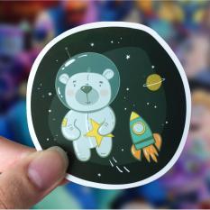 Lunarbay Space Bear Vinyl Sticker Laptop Decal Cute Sticker