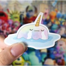 Lunarbay Whalicorn Pool Day Vinyl Sticker / Cute Sticker / Laptop Decal