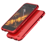 Luphie Aluminum Metal Frame Bumper Leather Back Case For Iphone 5 5S Se Red For Sale