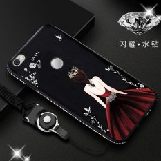 Discounted Luxury 3D Goddess Rhinestone Frame For Xiaomi Redmi Note 5A 5 5 Inch Case Silicone Soft Back Cover Cases Shell Multicolor 1 Intl