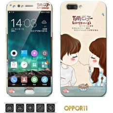 Sale Luxury 3D Painting Front Back Full Case Cover Color Tempered Glass Case For Oppo R11 R11T 5 5 Inch Screen Protector Film Multicolor 10 Intl On China