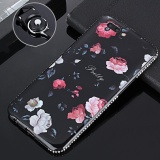 Luxury Bling Diamond Frame For Oppo R11 5 5 Inch 3D Relief Floral Silicone Soft Tpu Black Case Cover With Mobile Lanyard Multicolor 1 Intl Oem Cheap On China