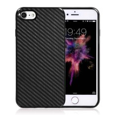 Luxury Carbon Fiber Phone Case For Apple Iphone 6 6S Plus Soft Tpu Cases Back Cover Black Intl China