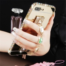 Retail Luxury Diamond Metal Frame And Mirror Pc Back Cover Case For Xiao Mi Redmi Note 4X Intl Black