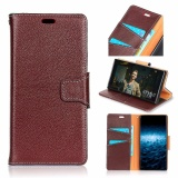 Luxury Genuine Leather Wallet Case Cover For Apple Iphone X Dark Brown Intl On Line
