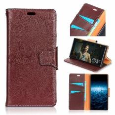 Buy Luxury Genuine Leather Wallet Case Cover For Apple Iphone X Dark Brown Intl