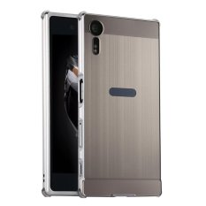 Luxury Metal Aluminum Bumper For Sony Xperia Xzs Case Detachable Brushed Pc Hard Back 2 In 1 Cover Ultra Thin Frame Silver Intl Review