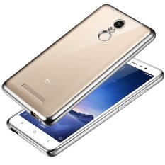 Purchase Luxury Plating Gilded Tpu Clear Soft Case For Xiaomi Hongmi Redmi Note 3 Silver Export