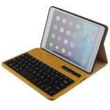Sale Luxury Ultra Thin Detachable Bluetooth Keyboard Stand Case Cover For Apple Ipad Mini 1 2 3 Tablet Yellow Oem