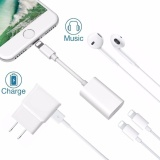 Top Rated Lyball Iphone 8 X 7 Plus Lightning Splitter Adapter Call Charge Music Dual Lightning Adapter Headphone Jack Audio And Charge Cable Adapter For Iphone 8 7 7 Plus Suport Ios 10 3 Ios 11 Plug Play Intl