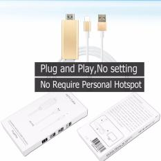 Review Lyball Plug Play 2M 1080P Plug Lightning 8Pin To Hdmi Hdtv Av Tv Cable Adapter Mhl Connection For Iphone 5 6 6S 6Plus 6S 7 Plus Se Ipad No Need Setting Gold Intl Lyball On China