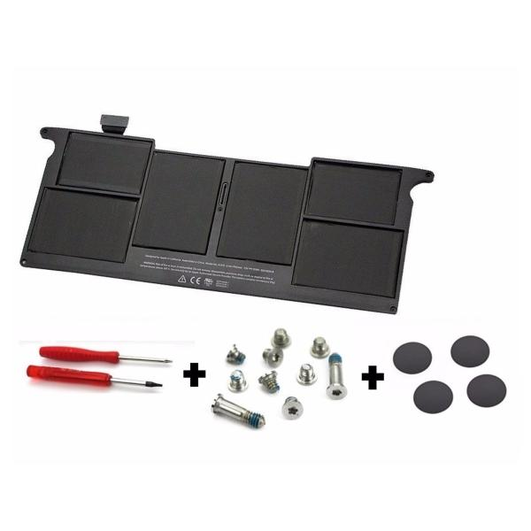 MacBook Air 11-inch (Late 2010) Battery (A1375) + Pack Rubber Case Feet with Screws + Screwdriver
