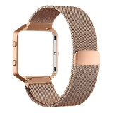 Buying Magnetic Milanese Watch Band Strap Rose Golden For Fitbit Blaze Tracker Intl