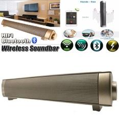 Price Magnetic Wireless Soundbar Lp 08 Hifi Box Bluetooth Subwoofer Speaker Boombox Stereo Portable Hands Free Speaker For Tv Pc Gold Intl Oem Original
