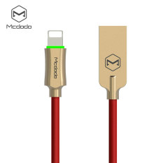 Wholesale Mcdodo Lightning To Usb Cable For Iphone 7 Cable Smart Phone Cable Auto Disconnect Fast Charger Nylon Braided Ios 11 With Led 1 2M