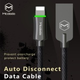 Mcdodo Zinc Knight 1 8M Auto Disconnect Lightning Data Cable For Iphone7 7Plus 6S 6 Breathing Light Fast Charging Data Sync Usb Cable Black Intl Mcdodo Discount