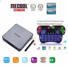 Best Price Mecool Bb2 Pro I8 Backlit 3G 16G Set Top Box Amlogic S912 Octa Core Tv Box Android 6 Bt 4 Wifi 2 4G 5 8G Kod17 4K Media Player Intl