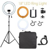 Discount Meking 18 5500K Led Dimmable Diva Ring Light Stand Camera Phone Holder Photo Video Kit Intl Meking On China