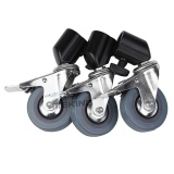 Sale Meking 3Pc Photo Studio Heavy Duty Universal Caster Wheels Forlight Stands Studio Boom Intl On China