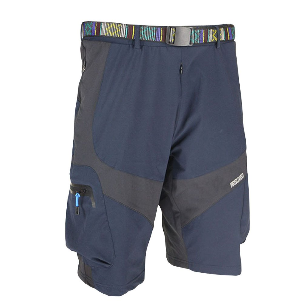 Cheap Men Outdoor Sports Loose Fit Cycling Mtb Shorts Hiking Hunting Mountain Road Bike Bicycle Shorts Jersey Pants Dark Blue Online