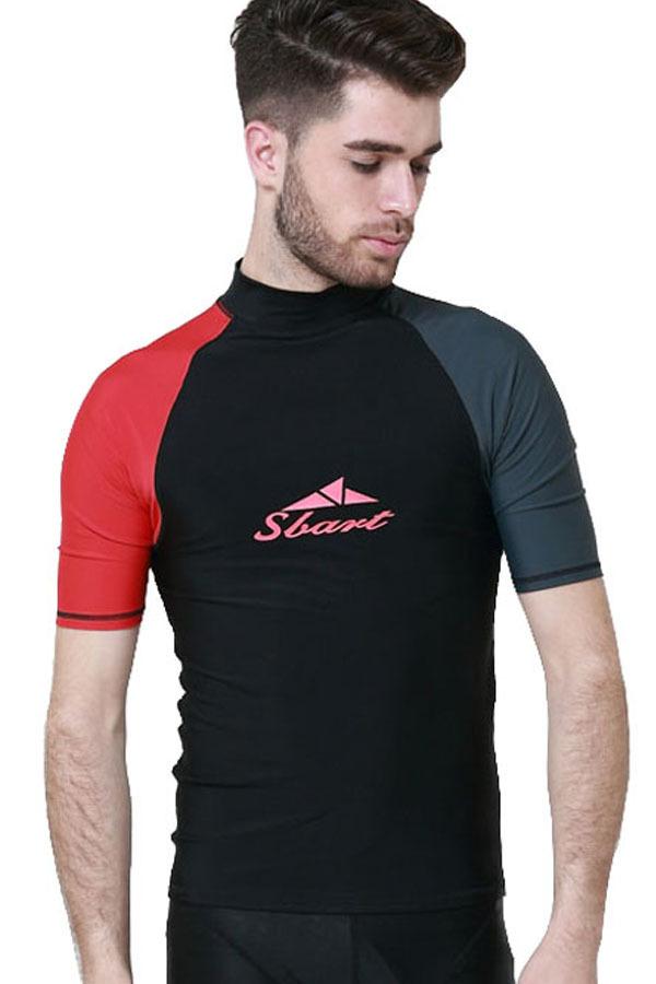 Men Swimwear Summer Snorkeling Scuba Diving Wetsuit Wear Short Sleeve Rashguard Surf T Shirts Tops Type1 Price Comparison