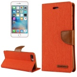 Sale Mercury Goospery Canvas Diary For Iphone 7 Plus Canvas Texture Horizontal Flip Leather Case With Card Slots And Wallet And Holder Orange Intl Sunsky Online