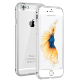 Retail Metal Bumper Case W Clear Cover For Apple Iphone 6 Plus 6S Plus Silver