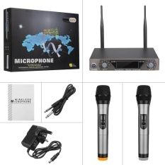 Purchase Metal Pro 2 Channel Uhf Dual Mic Cordless Wireless Handheld Microphone System Uk Plug Intl Online