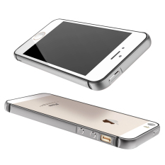 Best Price Metal Silicone Hybrid Bumper Case For Apple Iphone 5 5S Se Grey