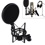 Buy Microphone Mic Professional Shock Mount With Pop Shield Filter Screen Intl On China
