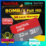Discount Microsd Ultra C10 32Gb 80Mb S 7Yrs Warranty Sandisk On Singapore