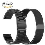 Sale Miimall 22Mm Stainless Steel Metal Watch Band Milanese Loop Mesh Replacement Bracelet Watch Strap For Gear S3 Frontier S3 Classic Smart Watch Black Intl Miimall Branded