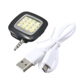 Buy Mini 3 5Mm Jack Smart Selfie 16Led Camera Flash Light For Ios Android Iphone 5 6 Black Export Cheap On China