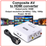 Buy Mini Composite Av To Hdmi Converter White Ac251 Cheap On Singapore