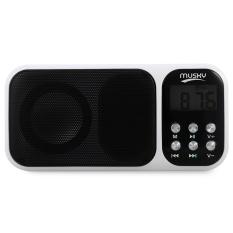 Price Mini Digital Media Portable Fm Radio Speaker Mp3 Player White Intl Oem