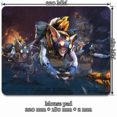 Mini Mouse Pad 220mm x 180mm x 2mm for dt221s Dota 2 Meepo - intl