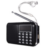 Mini Portable Led Digital Fm Radio Speaker Usb Micro Sd Tf Card Mp3 Music Player Black Shop