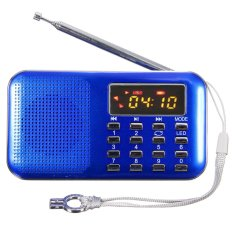 Best Reviews Of Mini Portable Led Digital Fm Radio Speaker Usb Micro Sd Tf Card Mp3 Music Player Blue Export